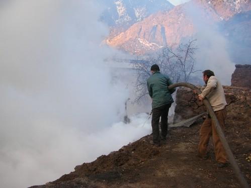 Esendal Köyü Yangın Görüntüleri