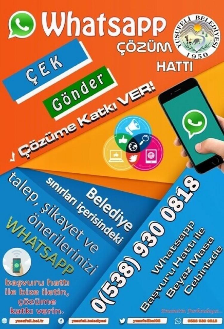 Yusufeli Belediyesi Whatsapp Çözüm Hattı